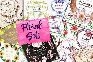 Watercolor floral Bundle 2