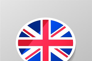 Speech bubble with Britain flag