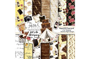 Let's Go Glamping Paper Pack