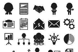 25 Business icons set