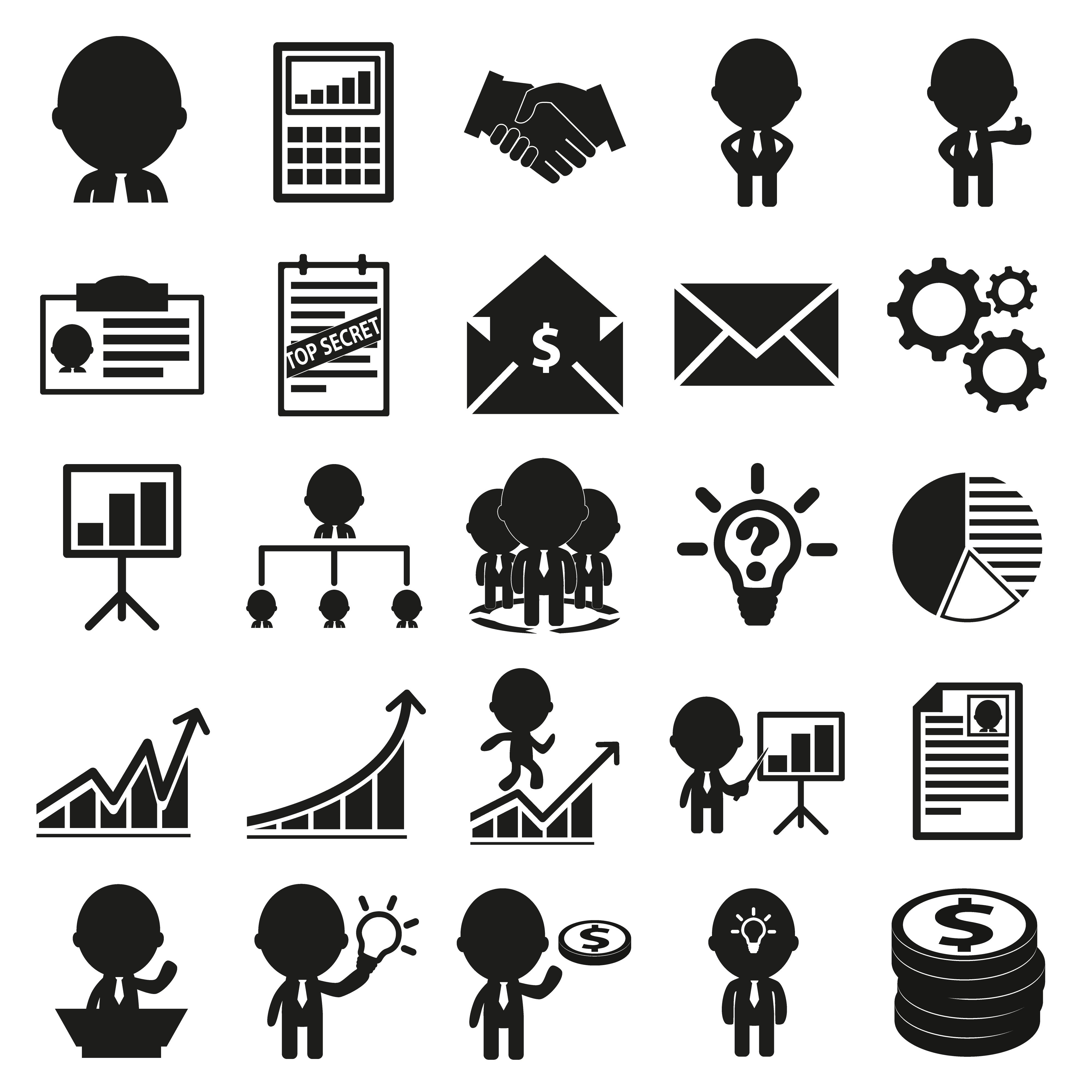25 business icons set icons creative market