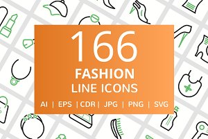 166 Fashion Line Icons