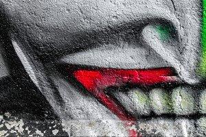 Human face graffiti
