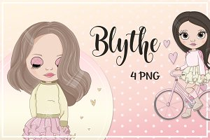 "Illustrations ""Blythe"" Cute Girls"