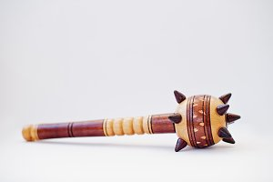 Wooden ukrainian traditional mace