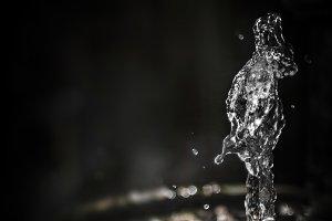 Water splash freeze motion as human