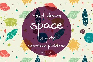 Cartoon Space Elements