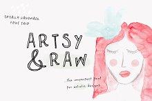 Artsy & Raw Font + Bonus