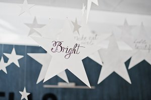 Decor star with sign bright