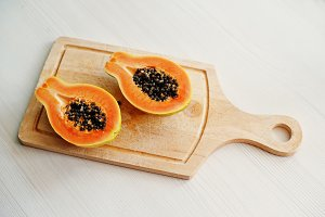 Exotic fruit papaya