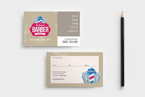 Barber's Appointment Card Template