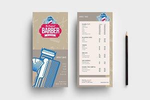 Barber's Shop DL Card Template
