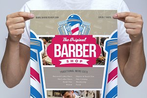 A3 Barber's Shop Poster Template