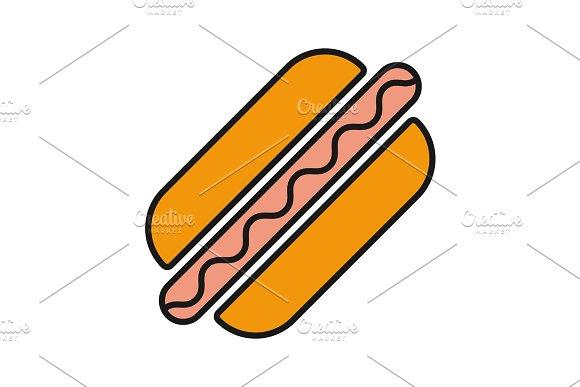 American Hot Dog Color Icon
