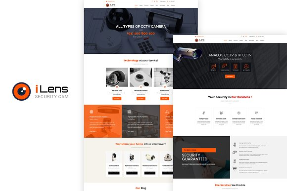 Ilens CCTV WordPress Theme