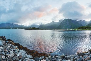 Sunset on Lofoten islands
