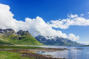 Lofoten islands landscape
