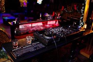 Dj Music club life concept.