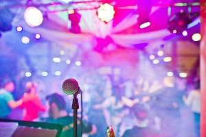microphone in the night club