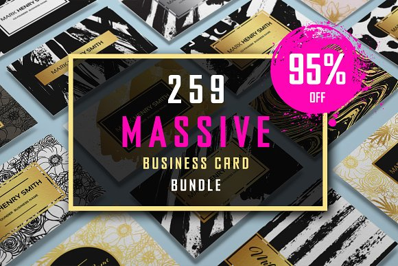 259 Massive Business Card Bundle