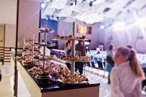 canapes on the festive banquet