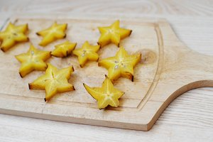 star fruit or carambola slices