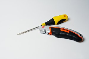 black and yellow screwdriver