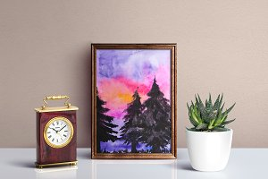 Watercolor Landscapes Set