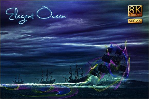 8K Elegant Ocean Overlays