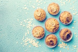 Healthy out banana muffins
