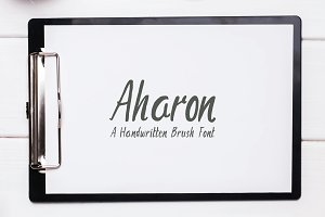 Aharon Handwritten Brush Font