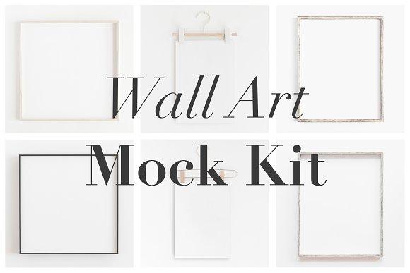 Wall Art Mockup,Minimal Frame Mockup