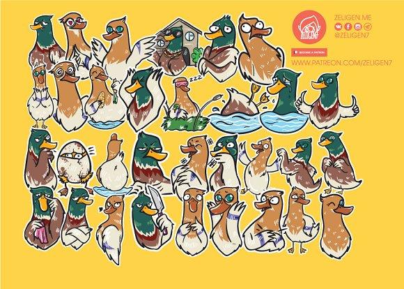 Quack-quack Sticker Set
