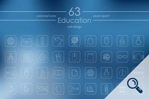 63 EDUCATION icons