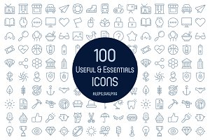 100 Useful & Essentials Icons