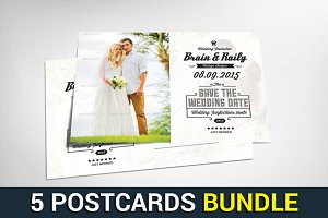 5 Creative Business Postcards Bundle