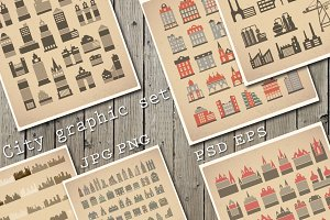 City Vector Bundle Set