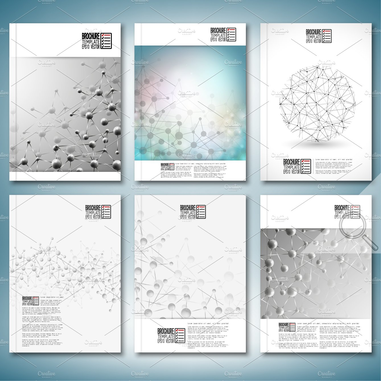 Science Brochure Or Flyer Templates Illustrations Creative Market - Brochure flyer templates
