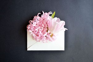 Beautiful floral greeting card for t