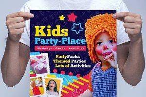 A3 Kid's Party Poster Template