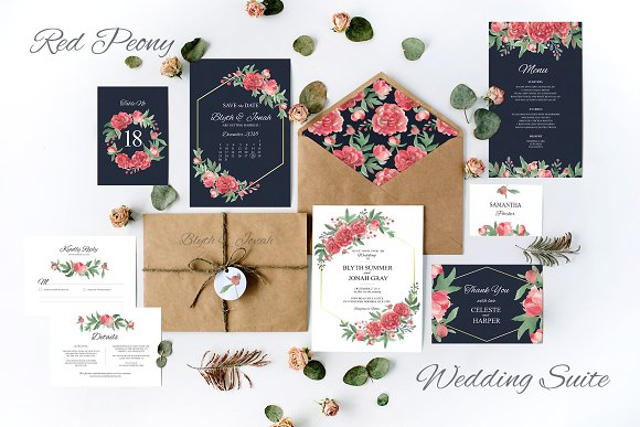 Red Peony Wedding Suite