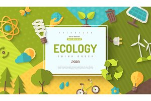 Ecology concept frame