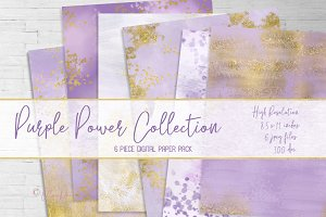 Purple Power Digital Paper