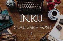Inku font ( 4 font family)