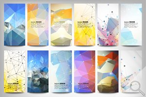 Colored abstract banners set