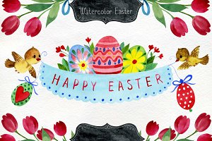 Watercolor Easter