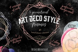 Geometry/Art Deco Style Frames Set
