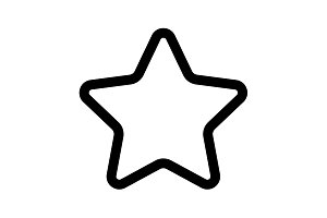 star - vector icon.