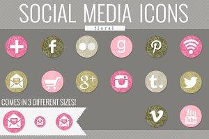 floral social media icons (garden)