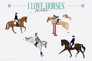 I Love Horses // Color version